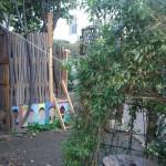 le jardin et les visages des Enfants Animateurs
